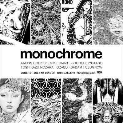 画像1: MONOCHROME zine / AARON HORKEY, MIKE GIANT, SHOHEI, KYOTARO, TOSHIKAZU NOZAKA, OZABU, SADAM, USUGROW