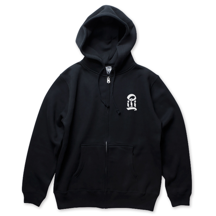 画像1: USUGROW / I BLACK ZIP UP HOODIE (1)