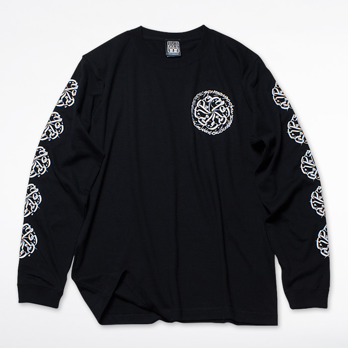 画像1: USUGROW / CIRCLE LOGO LONG SLEEVE BLACK TEE (1)