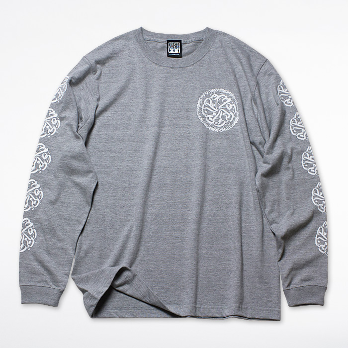 画像1: USUGROW / CIRCLE LOGO LONG SLEEVE GREY TEE (1)