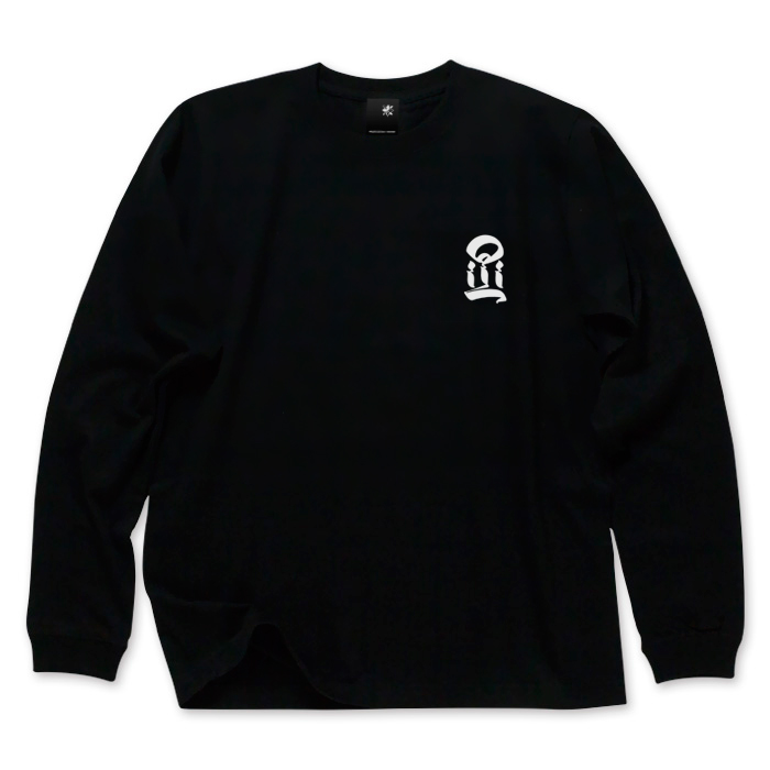 画像1: USUGROW / I LONG SLEEVE BLACK TEE (1)