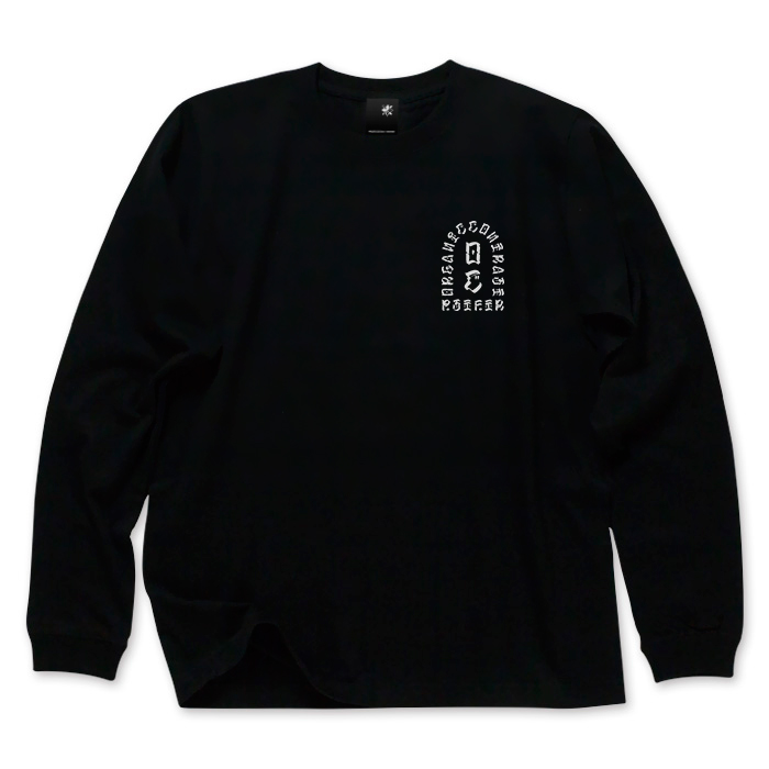 画像1: USUGROW / PST FTR LONG SLEEVE BLACK TEE (1)