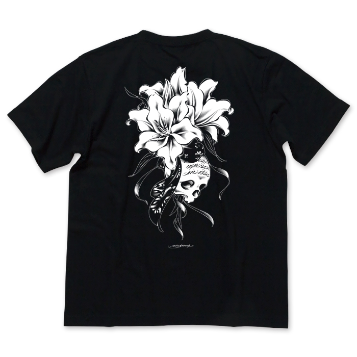 画像1: USUGROW / REBIRTH BLACK TEE (1)